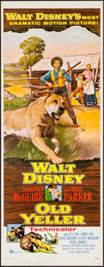 "Movie Posters:Drama, Old Yeller (Buena Vista, 1957). Insert (14"" X 36""). Drama.. ..."
