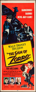 "Movie Posters:Adventure, The Sign of Zorro (Buena Vista, 1960). Insert (14"" X 36"").Adventure.. ..."