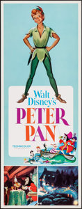 """Movie Posters:Animation, Peter Pan (Buena Vista, R-1969). Insert (14"""" X 36""""). Animation.. ..."""