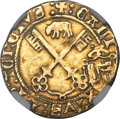 Italy:Papal States, Italy: Papal States. Calixtus III (1455-1458) gold Zecchino (Florinof 24 Sols) ND VF Details (Removed from Jewelry) NGC,...