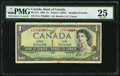 Canadian Currency: , Inverted Signatures Error Note BC-37a $1 1954....