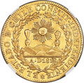 Chile, Chile: Republic gold 8 Escudos 1834 So-I AU Details (SurfaceHairlines) NGC,...