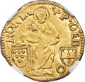 Italy:Papal States, Italy: Papal States. Leo X (1513-1521) gold Ducat ND MS61 NGC,...