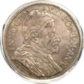 Italy:Papal States, Italy: Papal States. Innocent XII Piastra 1696 Anno V XF45 PCGS,...