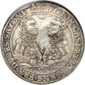 German States:Saxe-Coburg-Gotha, German States: Saxe-Coburg-Gotha. Johann Casimir & Johann Ernst2 Taler 1587 AU Details (Excessive Surface Hairlines) NGC,...