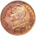 Argentina, Argentina: Republic copper Specimen 80 Centavos Fuertes 1879 SP64Red and Brown PCGS,...