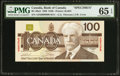 Canadian Currency: , BC-60aS $100 1988 Specimen.. ...