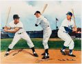 Autographs:Photos, Mickey Mantle, Willie Mays and Duke Snider Multi-SignedPhotograph....