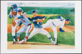 Autographs:Photos, Nolan Ryan Signed Oversized Lithograph....