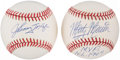 Autographs:Baseballs, Johnny Mize and Marty Marion Single Signed Baseball Pair (2). ...