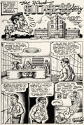 Original Comic Art:Complete Story, Robert Crumb The People's Comics Complete 4-Page StoryOriginal Art (Golden Gate Publishing Company, 1972).... (Total: 4Original Art)