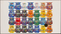 Football Collectibles:Others, 1992 Heide Candy NFL Uncut Box Sheet. ...