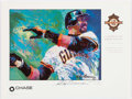"""Autographs:Others, LeRoy Neiman """"A Tribute to Barry Bonds"""" Signed Poster Print...."""