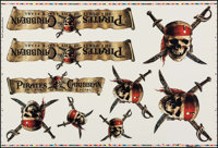 """Pirates of the Caribbean: The Curse Of The Black Pearl (Buena Vista, 2003). Printers Proof Sheet of Decals (27"""" X 4..."""
