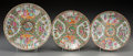 Asian:China Trade, A Group of Three Chinese Export Rose Medallion Porcelain Dishes. Marks to the smallest: CHINA. 9-7/8 inches (25.1 cm). ... (Total: 3 Items)