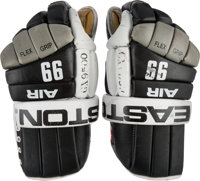 1993-94 Wayne Gretzky Game Worn Los Angeles Kings Gloves - Gifted to Brother-In-Law with Perfect Photo Match