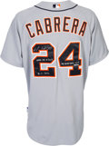 Baseball Collectibles:Uniforms, 2012 Miguel Cabrera Home Run #303 Game Worn Detroit Tigers Jersey from Triple Crown Season -- Photo Matched!...