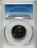 Proof Washington Quarters, 1969-S 25C Repunched Mintmark, FS-501 PR68+ PCGS. (FS-027.1). PCGS Population: (2/0 and 1/0+). NGC Census: (0/0 and 0/0+). ...