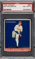 Baseball Cards:Singles (1930-1939), 1933 Goudey Milton Gaston #65 PSA NM-MT 8 - None Higher....
