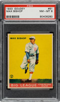 Baseball Cards:Singles (1930-1939), 1933 Goudey Max Bishop #61 PSA NM-MT 8 - Only One Higher....