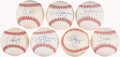 Autographs:Baseballs, Baseball Greats Single Signed Baseballs Lot Of 7. ...