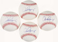 Autographs:Baseballs, Alex Rodriguez Quartet of Single Signed Baseballs (4)....