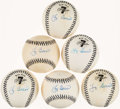 Autographs:Baseballs, Yogi Berra Single Signed Baseballs Collection of 6. ...