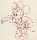 Animation Art:Production Drawing, Pluto's Sweater Minnie Mouse and Pluto Animation DrawingsGroup of 2 (Walt Disney, 1949). ... (Total: 2 )