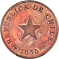 Chile, Chile: Republic Proof Centavo 1835 PR64 Red and Brown PCGS,...
