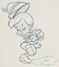 Animation Art:Production Drawing, Pinocchio Animation Drawing (Walt Disney, 1940). ...