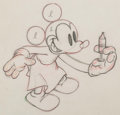 Animation Art:Production Drawing, The Worm Turns Mickey Mouse Animation Drawing (Walt Disney, 1937). ...