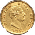 India:British India, India: British India. East India Company - William IV gold Mohur 1835.-(c) AU Details (Mount Removed) NGC,...