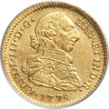 Colombia, Colombia: Charles III gold 2 Escudos 1774 P-JS MS62 PCGS,...