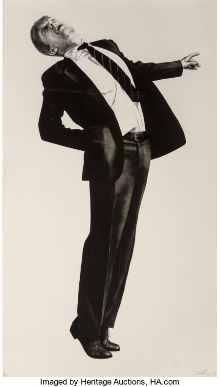 Robert Longo (b. 1953)Edmund, 1985Lithograph on wove paper39-1/2 x 68 inches (100.3 x 172.7 cm) (sheet)Ed. 4/38 ...