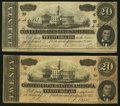Confederate Notes:1864 Issues, T67 $20 1864 PF-27, -31 Cr. 527, 531.. ... (Total: 2 notes)