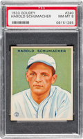 Baseball Cards:Singles (1930-1939), 1933 Goudey Harold Schumacher #240 PSA NM-MT 8 - Only OneHigher....