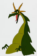 Animation Art:Production Cel, The 13 Ghosts of Scooby-Doo Dragon Pan Production Cel andAnimation Drawing (Hanna-Barbera, 1985).... (Total: 2 )