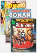 Magazines:Miscellaneous, Savage Sword of Conan and Marvel Preview Group of 10 (Marvel, 1974-75) Condition: Average VF.... (Total: 10 Comic Books)