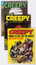 Magazines:Horror, Creepy Short Box Group (Warren, 1964-76) Condition: Average VG/FN....