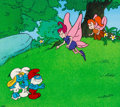 Animation Art:Production Cel, The Smurfs Pussiwillow Pixies Production Cel Setup(Hanna-Barbera, c. 1980s)....