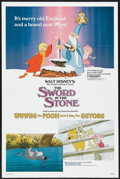 "Movie Posters:Animated, The Sword in the Stone/Winnie the Pooh and a Day for Eeyore Combo (Buena Vista, R-1983). One Sheet (27"" X 41""). Animated. ..."
