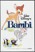 "Movie Posters:Animated, Bambi (Buena Vista, R-1982). One Sheet (27"" X 41""). Animated. ..."