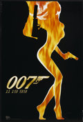 "Movie Posters:James Bond, The World is Not Enough (MGM, 1999). Advance One Sheet (27"" X 40"")DS. James Bond. ..."