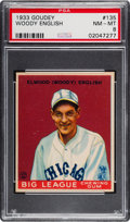 Baseball Cards:Singles (1930-1939), 1933 Goudey Woody English #135 PSA NM-MT 8 -Only One Higher....
