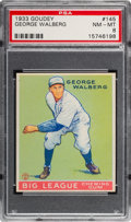 Baseball Cards:Singles (1930-1939), 1933 Goudey George Walberg #145 PSA NM-MT 8 - None Higher....