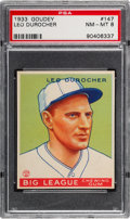 Baseball Cards:Singles (1930-1939), 1933 Goudey Leo Durocher #147 PSA NM-MT 8 - One Higher....