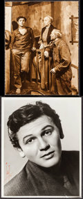 """Movie Posters:Film Noir, John Garfield by Talbot (Late 1930s/1940). Photographer Signed Photos (2) (7.5"""" X 9.25"""" & 8"""" X 10""""). Film Noir.. ... (Total: 2 Items)"""