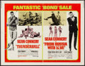 """Movie Posters:James Bond, Thunderball/From Russia with Love Combo (United Artists, R-1968).Half Sheet (22"""" X 28""""). James Bond.. ..."""