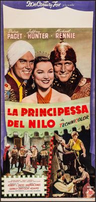 "Princess of the Nile & Other Lot (20th Century Fox, 1954). Italian Locandina (14.5"" X 30.5"") & First P..."