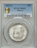 1923-S 50C Monroe MS62 PCGS Secure. PCGS Population: (504/3387 and 0/71+). NGC Census: (404/2979 and 0/35+). Mintage 274...